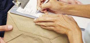 подпись бланк доставки