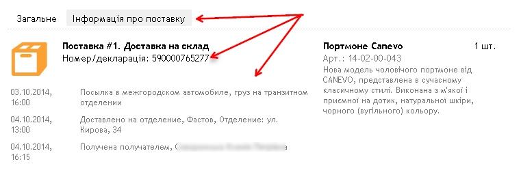 ZAZAmarket.com информация о поставке
