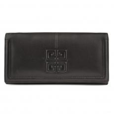 7c3b575f5bd0 Кожаный черный кошелек Givenchy для женщин.